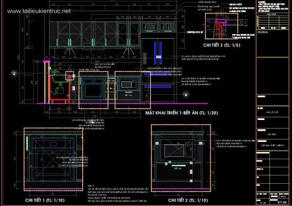 Hồ sơ chi tiết bổ đồ nội thất Bếp ăn M01