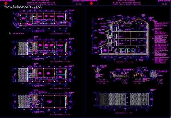 Hồ sơ thiết kế thi công Ủy Ban nhân dân Phường mẫu 05