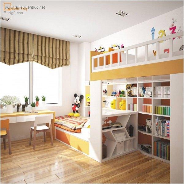 Sence Phòng Ngủ trẻ con 00005 - Thiết kế nội thất phong cách hiện đại