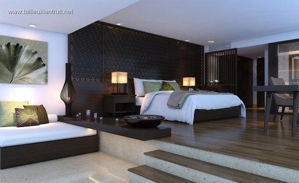 Sence Phòng Ngủ 00020 - Thiết kế phòng ngủ Master hiện đại và đẹp