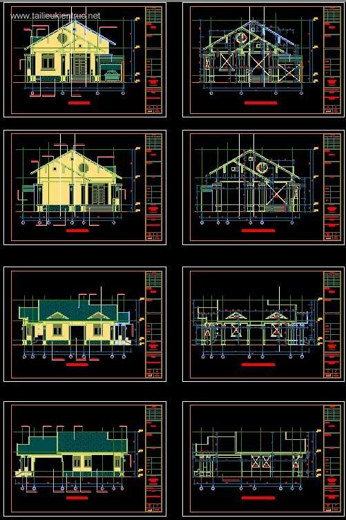 Hồ sơ thiết kế nhà 1 tầng diện tích 9x18m full kiến trúc