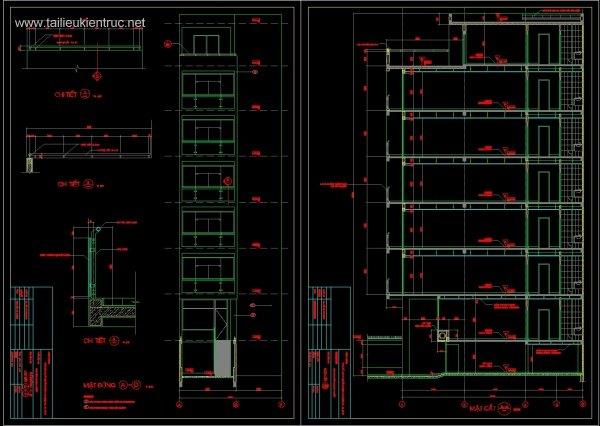 Hồ sơ thiết kế nhà phố 8 tầng diện tích 4,4x19m 063