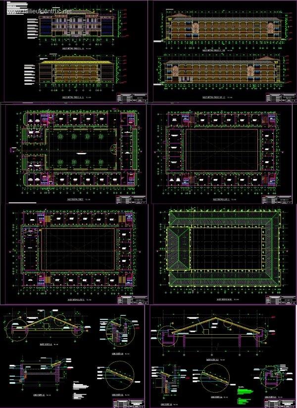 Hồ sơ thiết kế trường Tiểu Học Bình Chiểu mẫu 03
