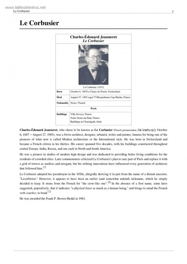 Sách về kiến trúc sư Le Corbusier