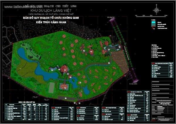 Đồ án quy hoạch chi tiết Khu Du lịch resort Làng Việt