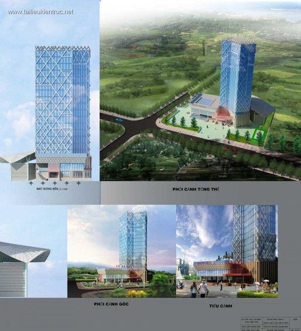 Đồ án tốt nghiệp kiến trúc sư - Thiết kế khách sạn 4 sao 200 giường