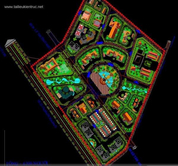 Đồ án kiến trúc sư - Mặt bằng Đồ án quy hoạch 2