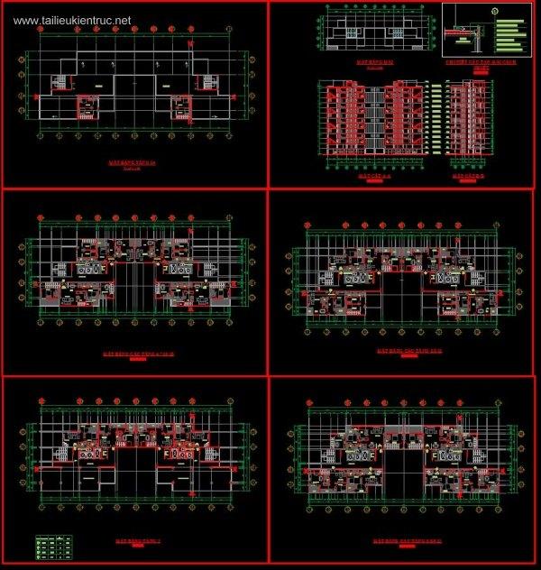 Đồ án kiến trúc - Thiết kế chung cư thấp tầng full cad