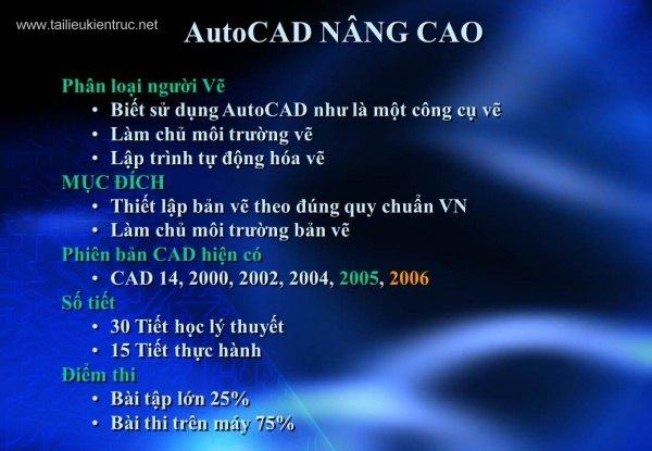 Giáo trình hướng dẫn học AutoCad nâng cao full