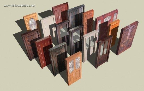 Thư Viện Sketchup cửa gỗ tân cổ điển các loại file Su
