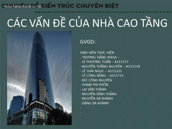 Chuyên đề kiến trúc - Các vấn đề về nhà cao tầng