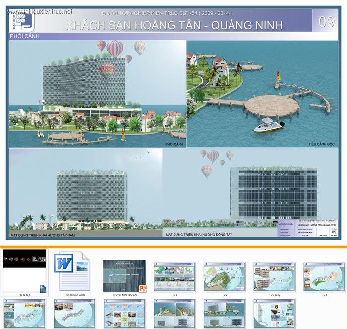 Đồ án tốt nghiệp kiến trúc - Thiết kế Khách sạn Hoàng Tân - Quảng Ninh