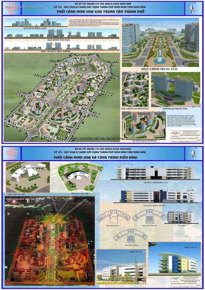 Đồ án quy hoạch tốt nghiệp kiến trúc - Quy hoạch Thành phố Ninh Bình