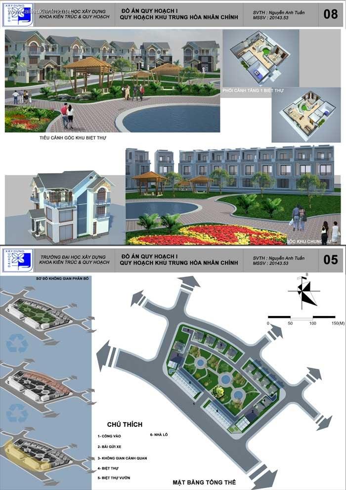 Đồ án Quy hoạch 1 - Quy hoạch khu Trung hòa Nhân Chính - Hà Nội