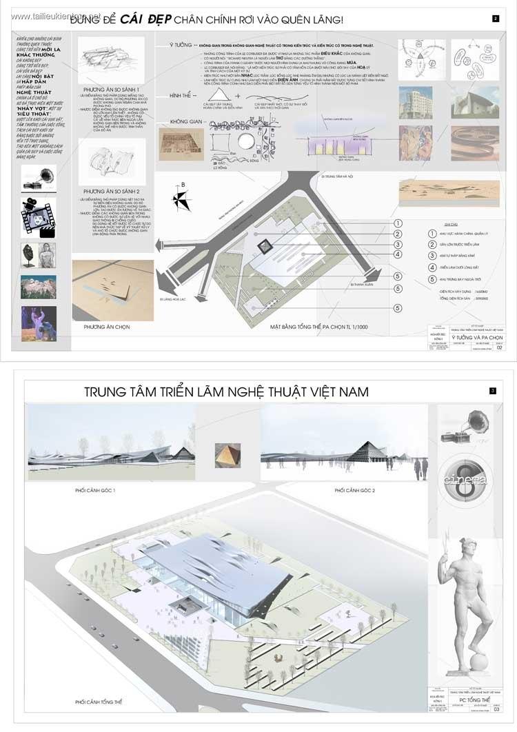 Đồ án tốt nghiệp kiến trúc - Trung tâm triển lãm nghệ thuật Việt Nam