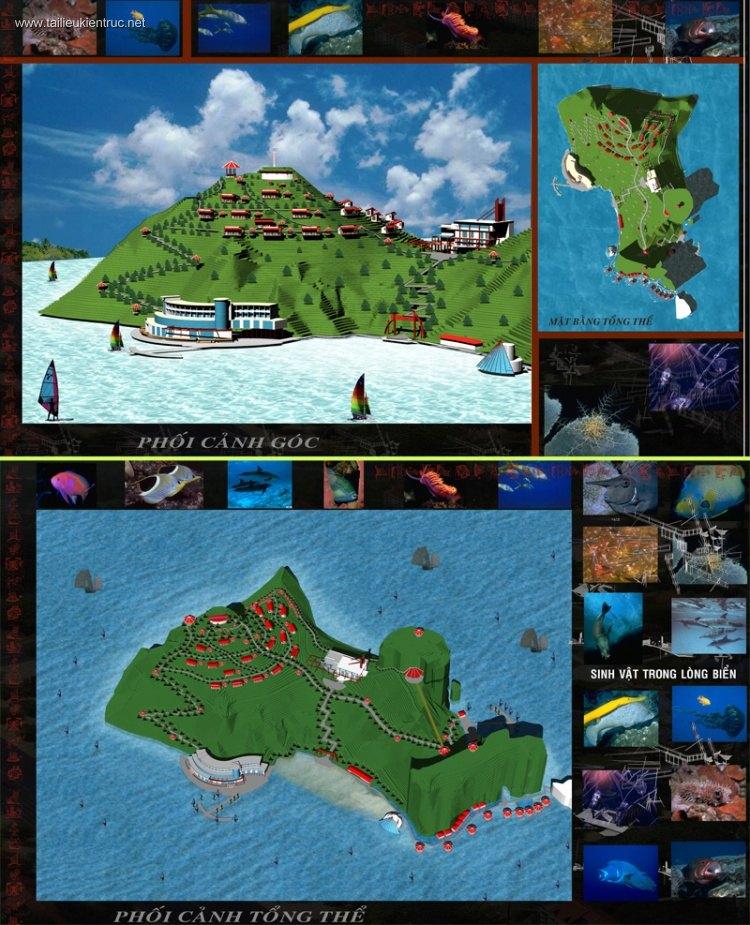 Đồ án kiến trúc - Khu du lịch nghỉ dưỡng biển đảo Soi Sim - Hạ Long