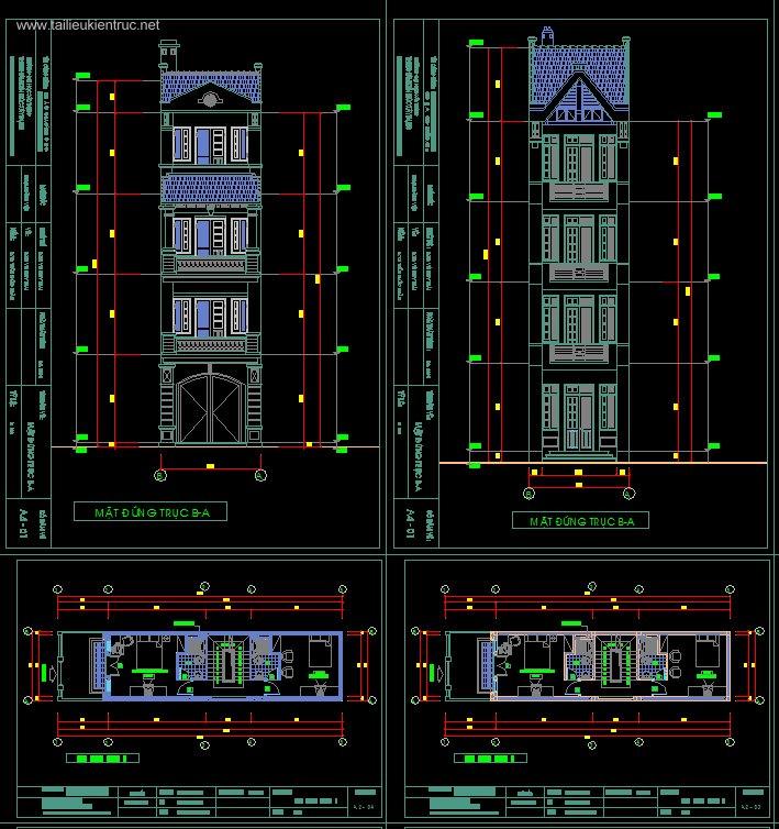 Hồ sơ thiết kế Nhà phố 3 tầng, diện tích 4,1x17m 076