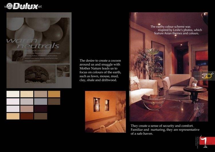 Bộ sưu tập Cách phối màu trong thiết kế nội thất của Dulux