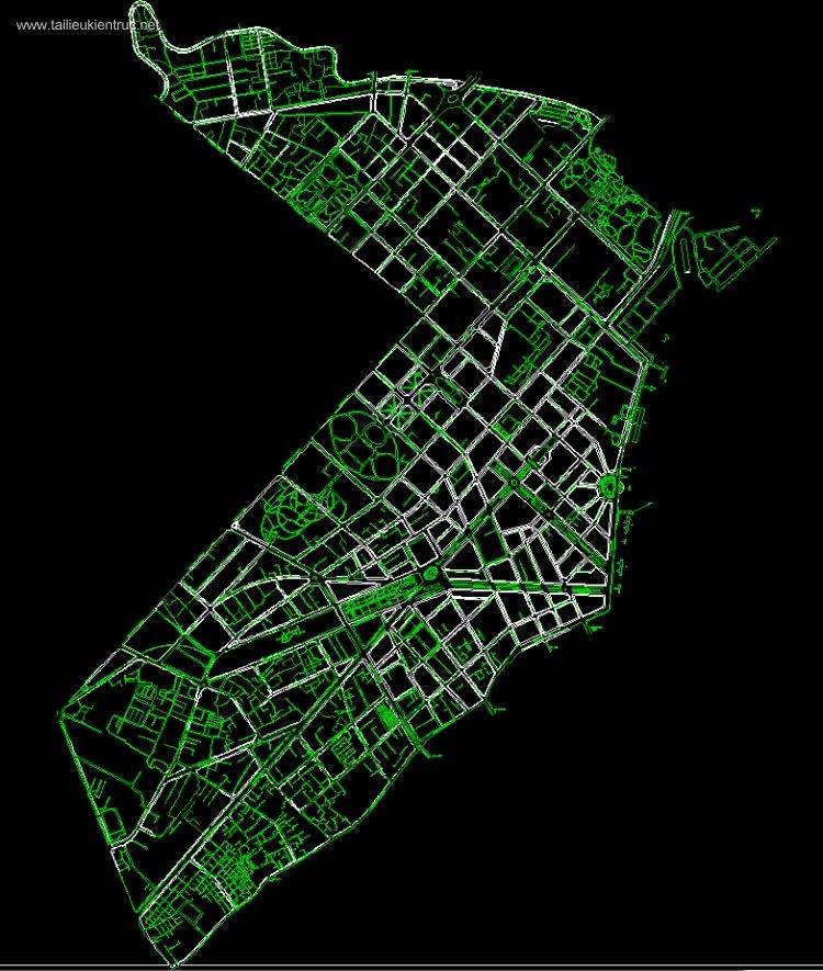 Bản vẽ autocad hiện trạng Q1 - Thành phố HCM