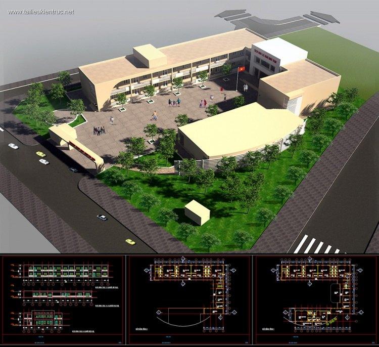 Hồ sơ thiết kế phương án Trường mầm non 2 tầng M04