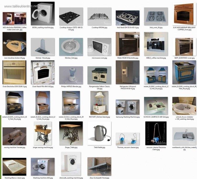 Thư viện 3d tổng hợp về các thiết bị đồ Gia dụng P1