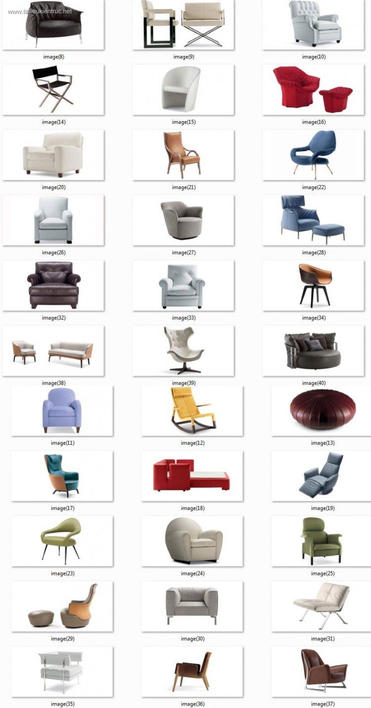 Tổng hợp 40 Model Ghế và Sofa các loại 00018
