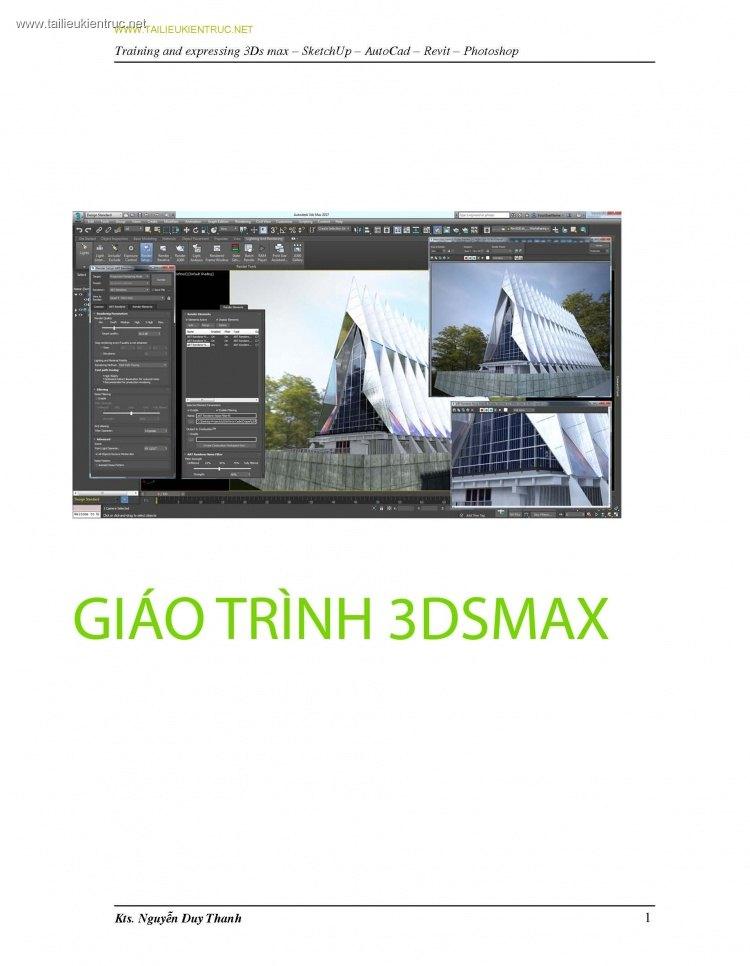 Giáo trình học 3dsmax của Nguyễn Duy Thanh