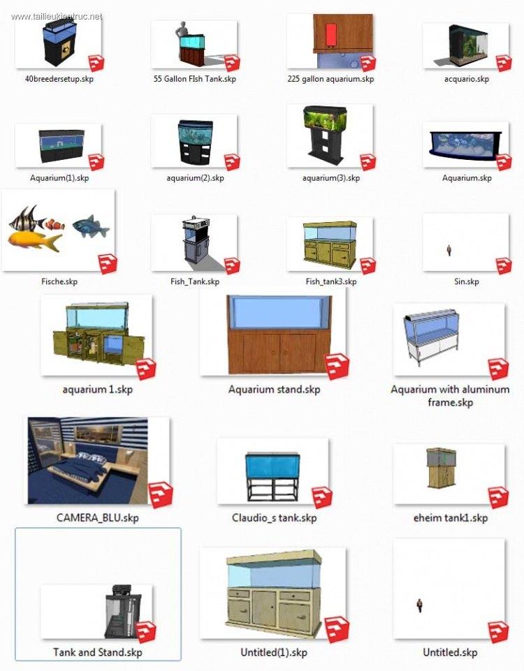 Tổng hợp 21 Model 3d Sketchup về Bể các các loại