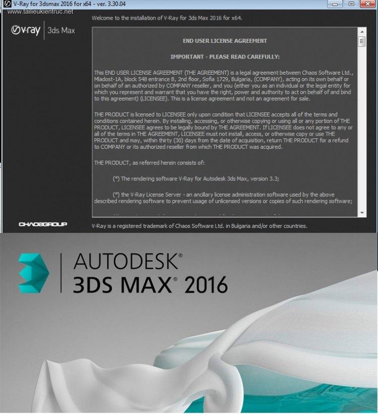 Bộ cài Vray 3.304 for 3dsmax 2016