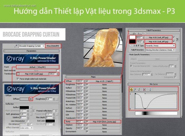Hướng dẫn Thiết lập Vật liệu trong 3dsmax - P3