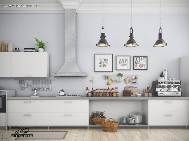 Phối cảnh 3d Nội thất Bếp ăn phong cách Hiện đại 0009