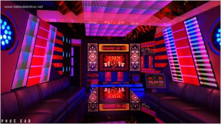 Phối cảnh Phòng Karaoke 006 - File Sketchup