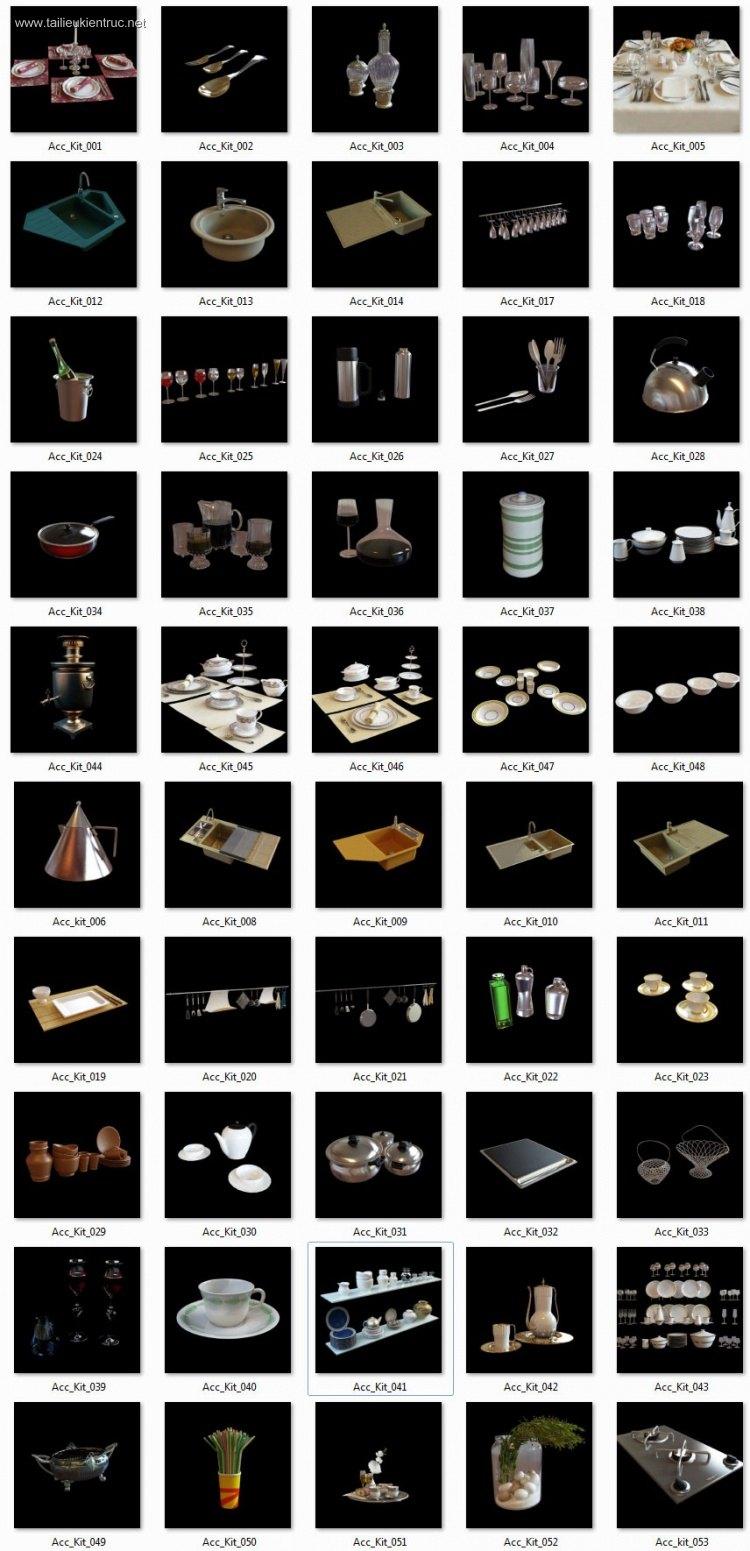 Thư viện 3dsmax tổng hợp 52 Model về đồ thiết bị Bếp P1