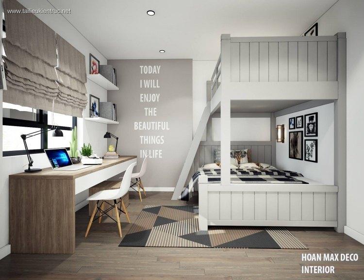 Sence Phòng Ngủ trẻ con 00007 - Thiết kế nội thất phong cách hiện đại