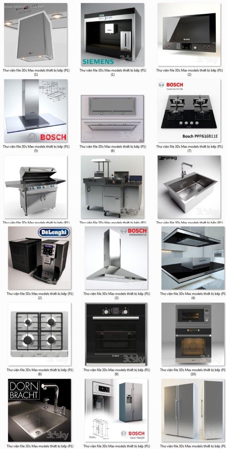 Thư viện 3dsmax tổng hợp 20 Model về đồ thiết bị Bếp P4
