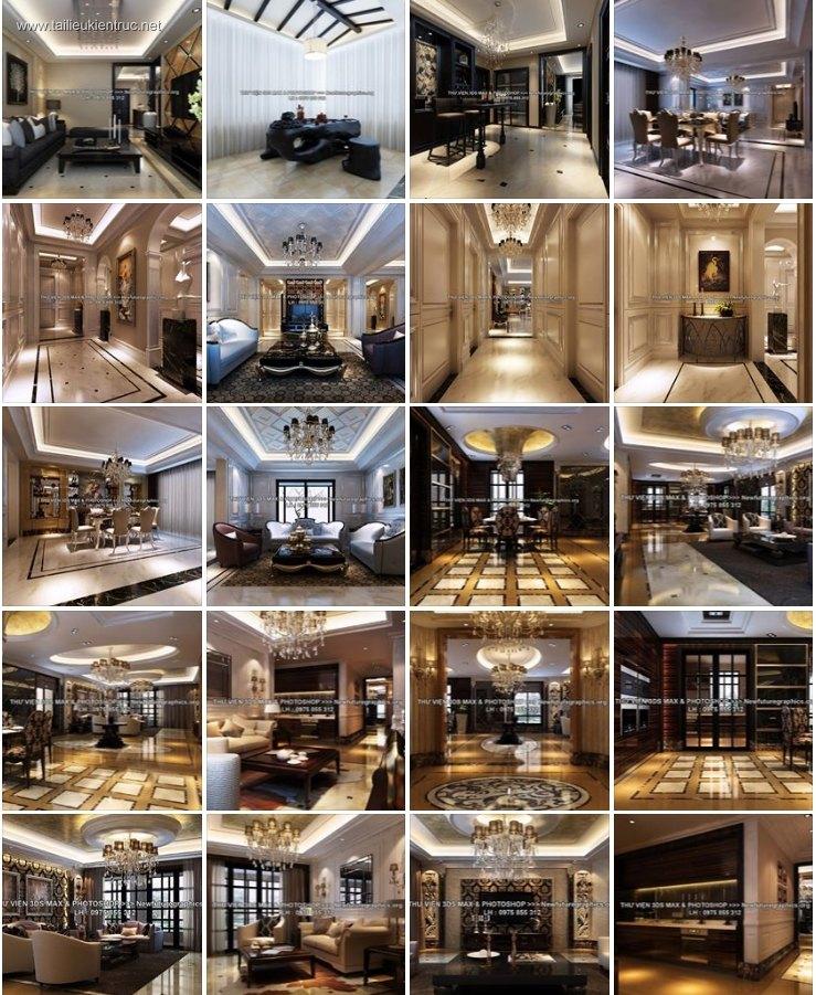 Thư viện 3dsmax tổng hợp 122 Model đồ nội thất và phối cảnh 3d full