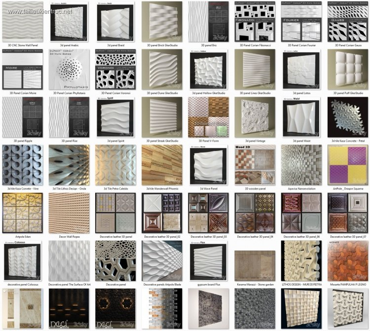 Tổng hợp 58 Model về Tường 3D Wall full Map 04
