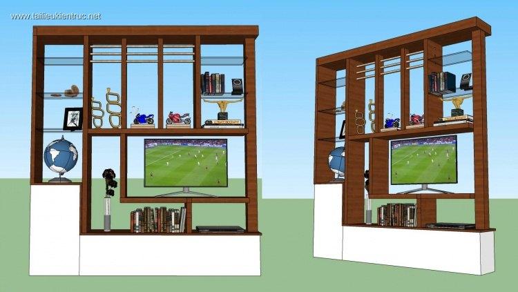 Thư viện sketchup kệ tivi mẫu 01