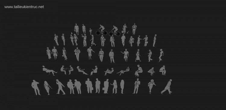 Thư viện sketchup về Người 2D full
