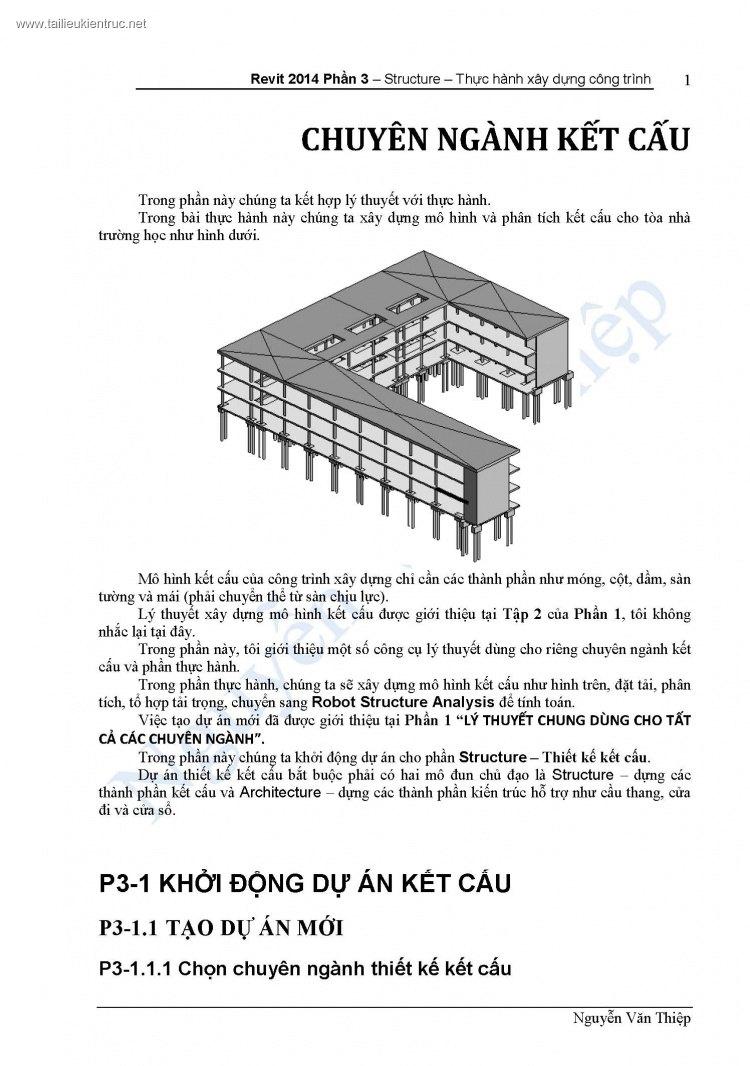 Giáo Trình Revit Structure - Nguyễn Văn Thiệp