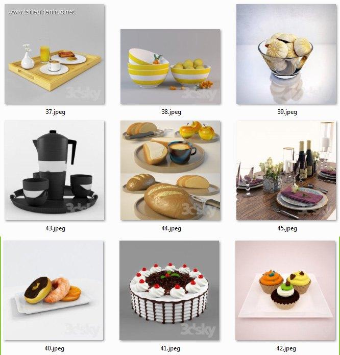 Thư viện 3dsmax tổng hợp 09 Model về đồ thiết bị Bếp bàn ăn P5