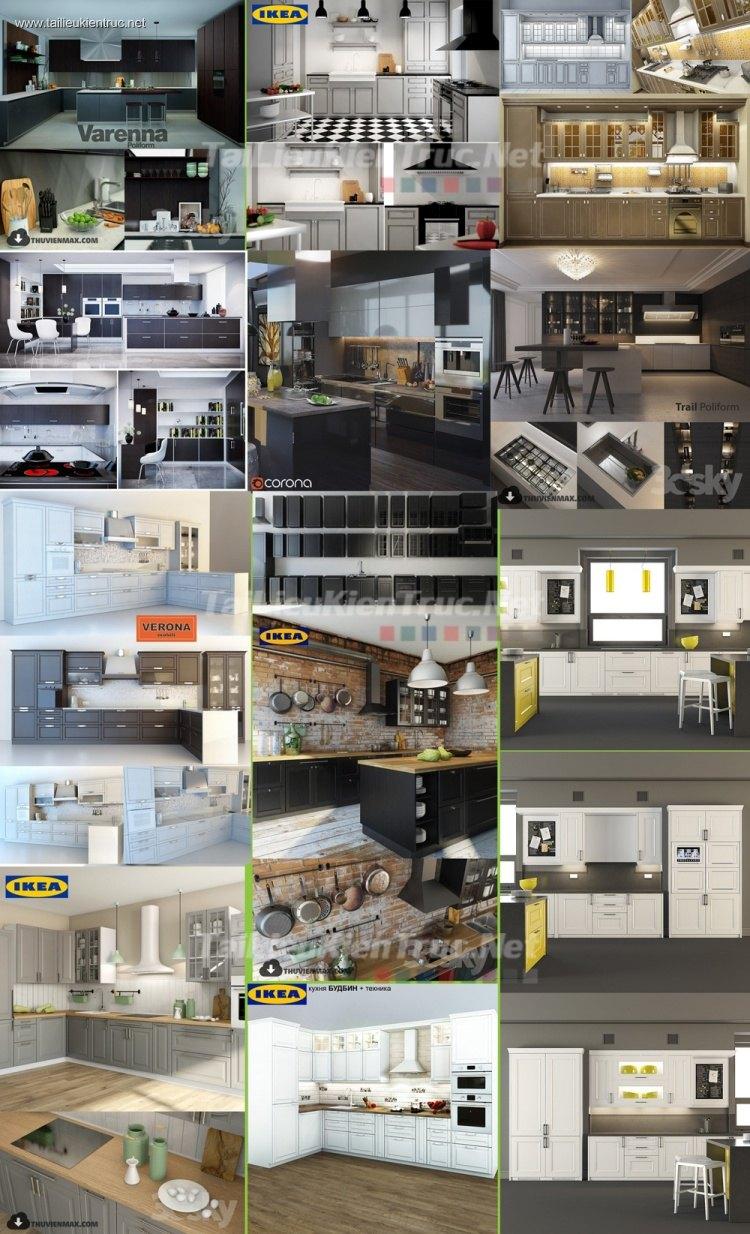 Thư viện 3dsmax tổng hợp 11 Model về các loại tủ bếp P6