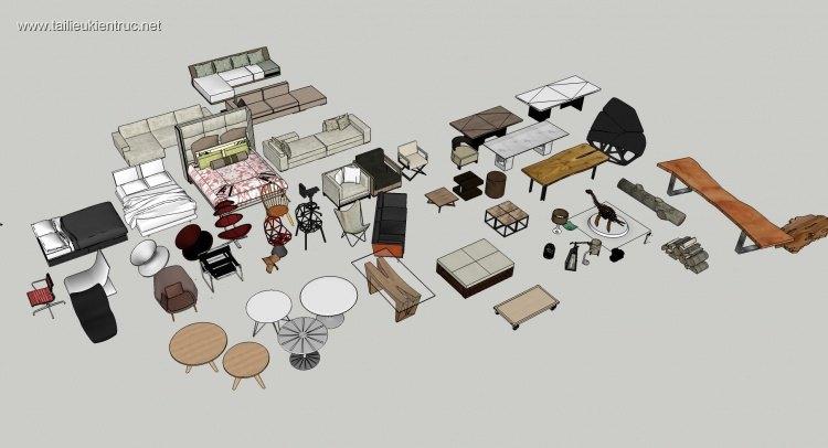 Thư viện tổng hợp file Sketchup đồ đạc nội thất các loại Phần 2
