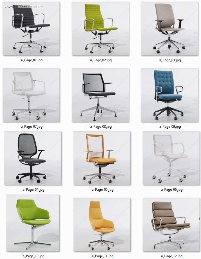 Thư viện tổng hợp 12 model 3d ghế Văn phòng Hiện đại đẹp 00026