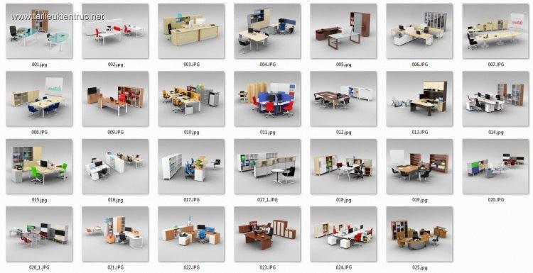 Thư viện Tổng hợp 27 Model 3dsmax về Bàn, ghế, tủ Văn phòng 00027