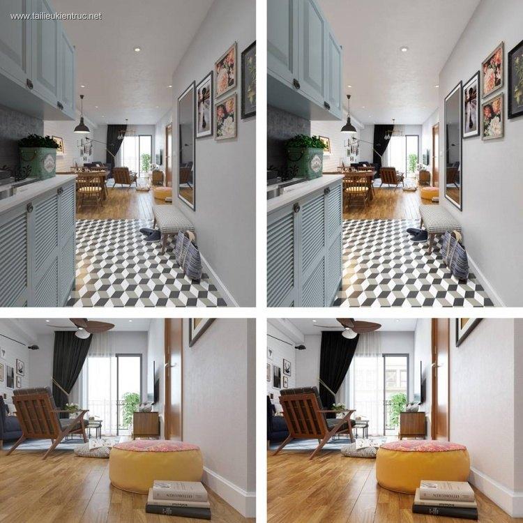 Phối cảnh nội thất 3D nội thất chung cư Max2015+Corona 1.4