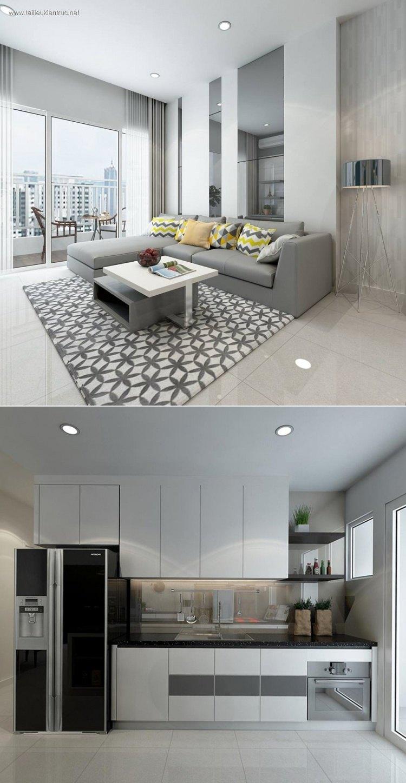 Phối cảnh nội thất 3D phòng khách hiện đại 00027