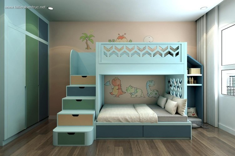 Sence Phòng Ngủ trẻ con 00008 - Thiết kế nội thất phong cách hiện đại