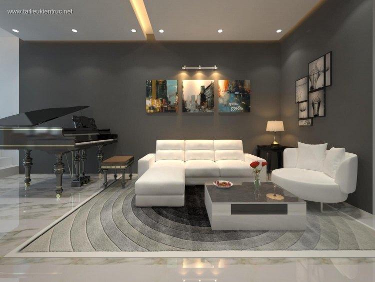 Phối cảnh nội thất 3D phòng khách hiện đại 00028