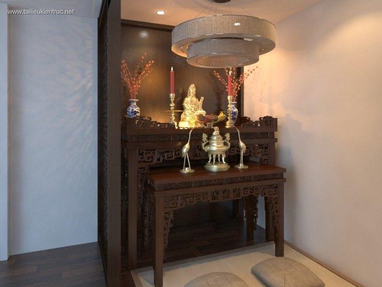 Sence Phòng thờ 013 - Thiết kế nội thất phòng thờ đẹp Full download